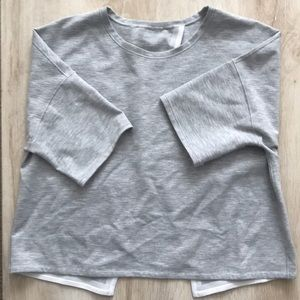 Gray lululemon crop T-shirt